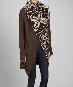Look what I found on #zulily! Luna Claire Brown & Beige Annalise Jacket by Luna Claire #zulilyfinds