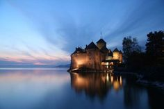 Chateau de Chillon, Switzerland  -      A picturesque castle that looks like it came straight from a storybook.  -    © Andy Christiani/Getty Images