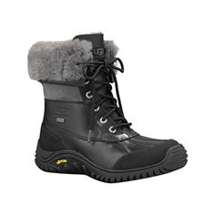 UGG Womens Adirondack Boot II Winter Boot BlackGrey 85 B US ** More info could be found at the image url.