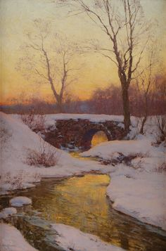 Walter Launt Palmer | Ackerman's Fine Art -The Snowbound Brook