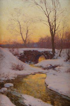 Walter Launt Palmer   Ackerman's Fine Art -The Snowbound Brook