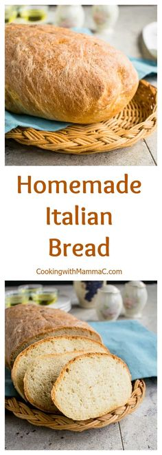 Homemade Italian Bread is easier than you think! You'll be so proud when this delicious, crusty loaf comes out of your oven.  #italianbread #italianbreadrecipes #homemadebread