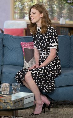Sitting pretty: Rose looked gorgeous in a Altuzarra's 'Ella' polka dot dress for…
