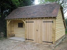 Oak Timber Framed Buildings Garage and Office Barn Construction