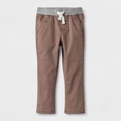 These Pull-On Jogger Pants from Cat & Jack™ were designed for style and play. Your little one will love the softness of the cotton material and the extra stretch and movement of the added spandex. With reinforced knees, the joggers are durable enough to stand up to hours and hours of intense play while the elastic waistband keeps these pants fitting snugly.