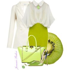 Kiwi and Cream, created by jbaker1663 on Polyvore