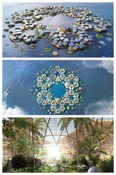 BIG unveils floating Oceanix City that can withstand hurrica.-BIG unveils floating Oceanix City that can withstand hurricanes BIG unveils Oceanix City concept for floating villages that can withstand hurricanes - Floating Architecture, Green Architecture, Futuristic Architecture, Amazing Architecture, Landscape Architecture, Architecture Design, Architecture Diagrams, Architecture Portfolio, Futuristic City
