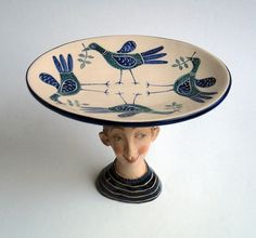 Image detail for -Boy with Birds Plate by Helen Kemp