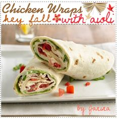 Chicken BLT Wraps with Aioli ♥, created by thebestcookbook on Polyvore