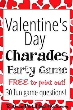 20 Valentine's day games for children and adults DIY game Kinder Valentines, Valentines Day Activities, Valentines Day Party, Valentine Ideas, Valentine Crafts, Valentine's Day Party Games, Tween Party Games, Sleepover Games, Party Fun