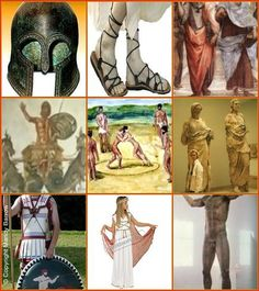ancient greek clothing for men, I pinned it because the clothing is similar to that worn in war and the women's clothes