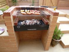 Embedded Parrilla Exterior, Barbecue Pit, Home Projects, New Homes, Home And Garden, Backyard, Outdoor Kitchens, Landscaping, Tables