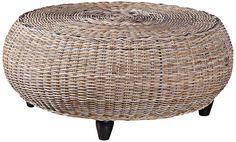 kubu mandalay driftwood rattan coffee table.