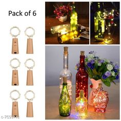 Lights Cork Led String Warm Lights (Pack of 6) Material: Plastic Pack: Multipack Cable Length: 2 M Country of Origin: India Sizes Available: Free Size   Catalog Rating: ★4.2 (1327)  Catalog Name: Classy Indoor String Lights CatalogID_1228753 C127-SC1620 Code: 493-7593113-9401
