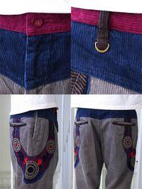 ALDIES Cord Decoration Pants