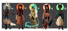Adopts 36-40 [Auction- Closed] by sandflake-adoptables.deviantart.com on @DeviantArt