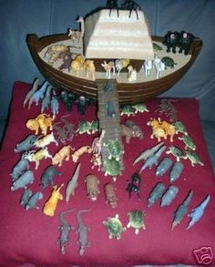 Noah's Ark & Animals from Arco Gas 1970's