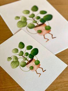 Embarrassed pilea - plant lover illustration / botanical print / botanical wall decor / house plant print / plant art Plant Art, Plant Illustration, All Poster, Botanical Prints, Beautiful Artwork, House Plants, Illustrations Posters, Decor Styles, Color Schemes