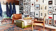 Don't: Go for an All-Mirror Arrangement No one needs to look at themselves that much. This trend is tired.  Do: Limit the Variety of Frame Styles You Use Restrain your arrangement to two styles, colors, or materials when selecting your frames. Otherwise it starts to look too messy and you begin to focus on the frames instead of what's in them.