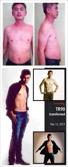 """Handsome Kok ! This is amazing, with ageLOC TR90, his weight was not much different. but 2kg+ of body fat is now muscle!  His stamina improved tremendously and he now """"feel"""" from uncle to """"shuai-ge""""- the dream man every woman desires!!!  就一套如新的TR90让他从满街都是的""""大叔""""到现在许多少女心中的""""完美型男""""!"""