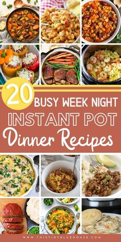 Make school nights easier with one of these 20 Busy School Night Meal Ideas that are one pot wonder Instant Pot Dinners. Easy, delicious and made in no-time at all these are guaranteed to make meal time a breeze Slow Cooker Sausage Recipes, Instant Pot Dinner Recipes, Easy Weeknight Meals, Healthy Dinners, Healthy Drinks, Healthy Food, Healthy Eating, Meal Ideas, Supper Ideas