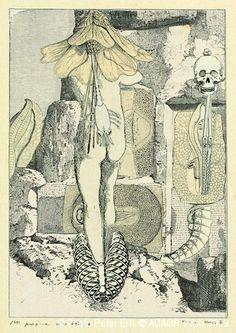 Max Ernst. Collage tiré de Une semaine de bonté. Premier poème visible 4 1933 Via RMN