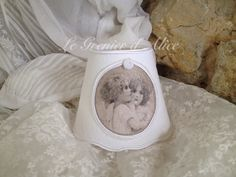 Abat jour shabby chic et romantique abat jour chérubin ange abat jour festonné lin blanc gf