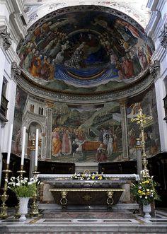 Spoleto, Cattedrale di Santa Maria Assunta, Hochaltar und Apsisfresken von Filippo Lippi (Cathedral of the Assumption of St. Mary, high altar and apse frescoes by Filippo Lippi)   da HEN-Magonza
