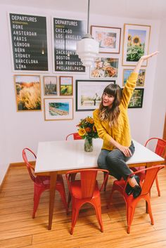 Love Taza kitchen gallery wall #homedecor
