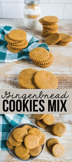 Make Gingerbread Cookies Mix to give to family and friends for the holidays! via www.thirtyhandmadedays.com