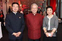 Consul General and Deputy Consul of the Consulate-General of the People's Republic of China with director Xie Fei Ontario, Toronto, Chef Jackets, Suit Jacket, Cinema, People, Pictures, Fashion, Photos