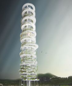 Dyv-net, Dynamic Vertical Networks Proposal-vertical farming / JAPA Architects