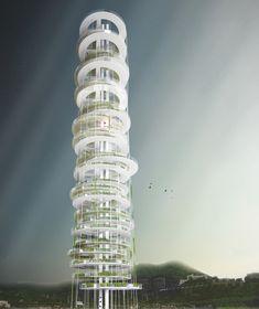 Dyv-net, Dynamic Vertical Networks Proposal-vertical farming / JAPA Architects