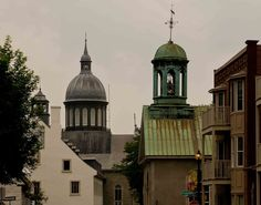 Ursulines De Trois Rivieres in the background with St. James Anglican Church in the foreground, Quebec. Saint Lawrence River, Canadian Nature, Trois Rivieres, Anglican Church, Three Rivers, Quebec City, Cathedrals, Landscape Photos, Nature Photos