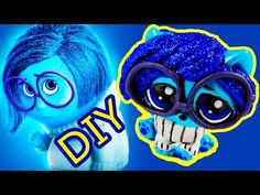 Sadness Inside Out Custom lps Littlest Pet Shop Fake repaint OOAK DIY Painted Craft how to make - YouTube