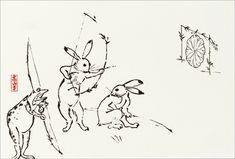 【メール便可】 デザインはがき 〈国宝 鳥獣人物戯画〉