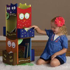 rotating owl bookshelf