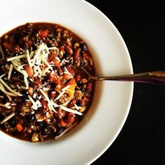 Venison chili for lunch today #DELISH #21dayfix approved!
