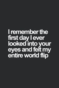 I remember that! The priceless thing is I later found out it was the same moment for him