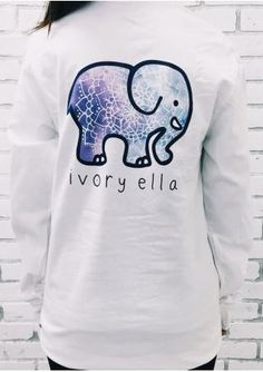 512e22d0b836 2016 Spring New Harajuku Ivory Ella T shirt Women girls Print Cute Animal  Elephant TShirt Summer Plus Size Long Sleeve Crop Top - Top Kawaii - Best  Online ...