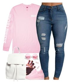 """Replay"" by oh-aurora ❤ liked on Polyvore featuring HUF, Mansur Gavriel, adidas Originals, ZeroUV and Diane Kordas"