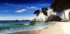 Check out Cathedral Cove Print on Canvas by Linelle Stacey at New Zealand Fine Prints