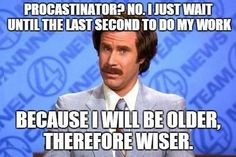 feeling guily about procrastination?