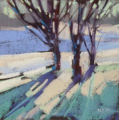 The Secret to a Good Painting, painting by artist Karen Margulis - cerulean cobalt