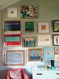 Gallery wall - Little Green Notebook