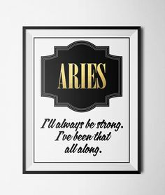 Aries Quote Print