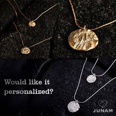 Two Tier Gold Necklace Personalized gift 18k Gold by JunamJewelry
