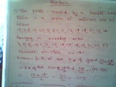 Maths: Solved question To find the median of the given da...