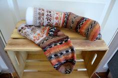 Høst-pussel sokker  37 - 38 Blanket, Blankets, Cover, Comforters