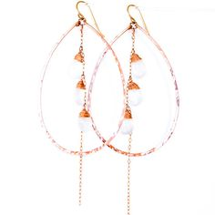 XL Falling Moonstones  Moonstone and Rose Gold by delialangan, $89.00